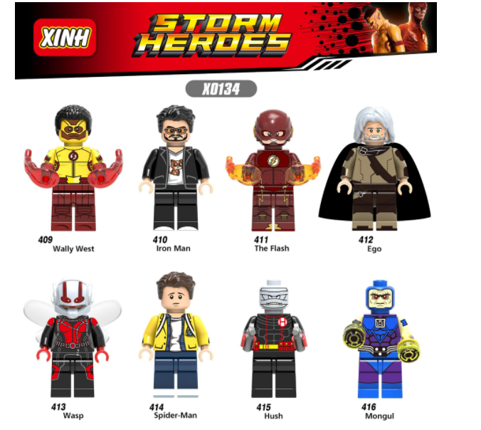 XINH Super Hero Figures X0134 Iron Man Wasp Flash Minifigures