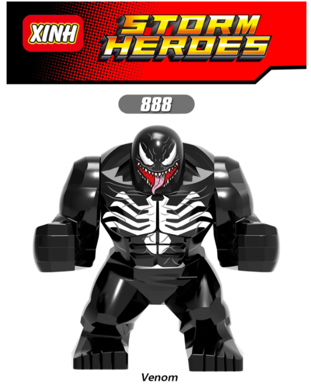 XINH Super Hero Figures X888 Macrovenom Toxin Minifigures