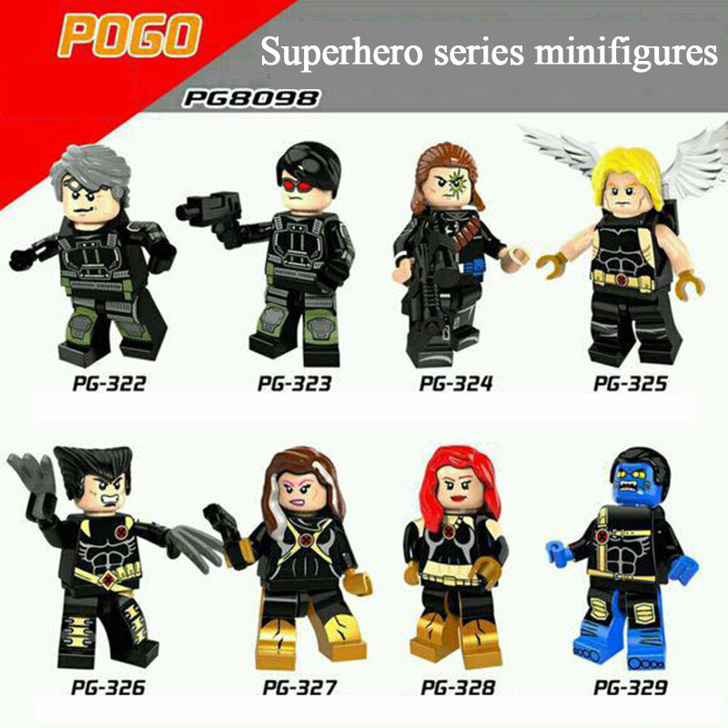 Pogo Superhero Series - PG8098 Fast Silver Ultimate Angel Long Shot Minifigures