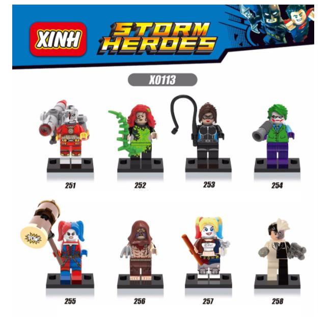 XINH Super Hero Figures X0113 Single Radiation Eye Minifigures
