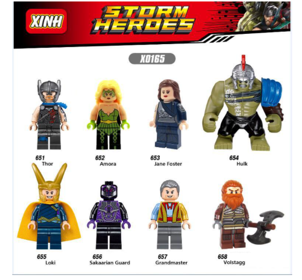 XINH Super Hero Figures X0165 Thor 3 Movie Minifigures