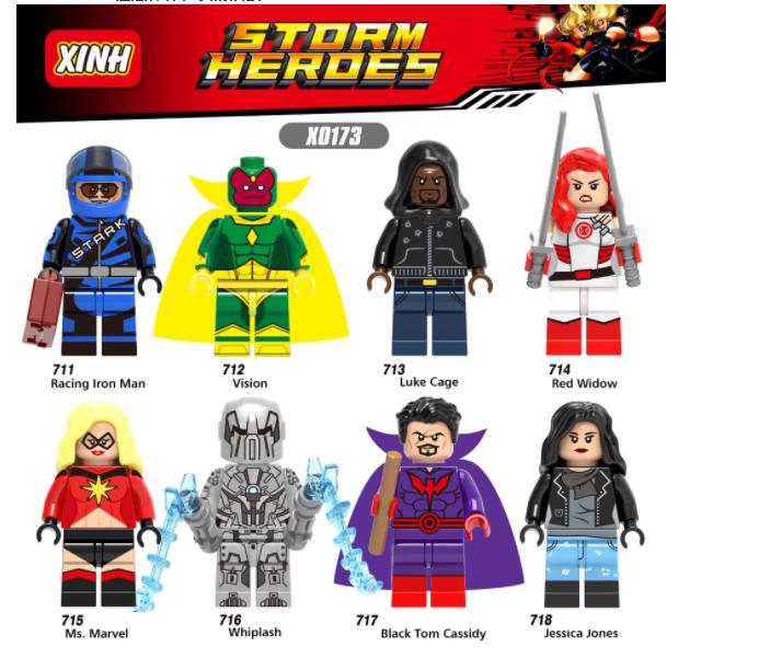 XINH Super Hero Figures X0173 The Avengers Minifigures