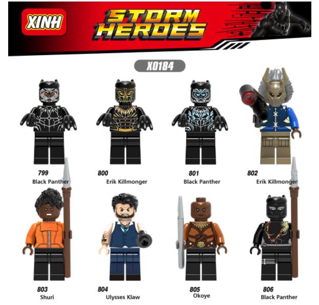 XINH Super Hero Figures X0184 Black Panther Educational Toy Minifigures