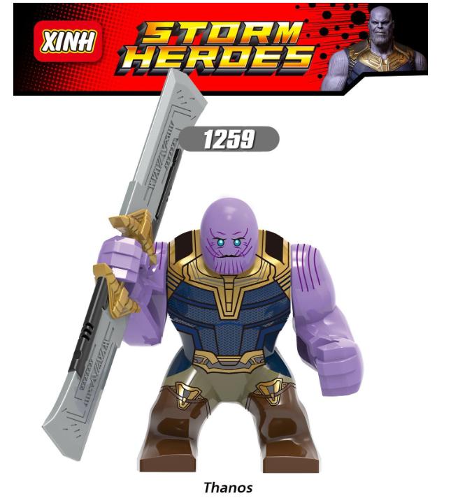 XINH Super Hero Figures X1259 Thanos Minifigures