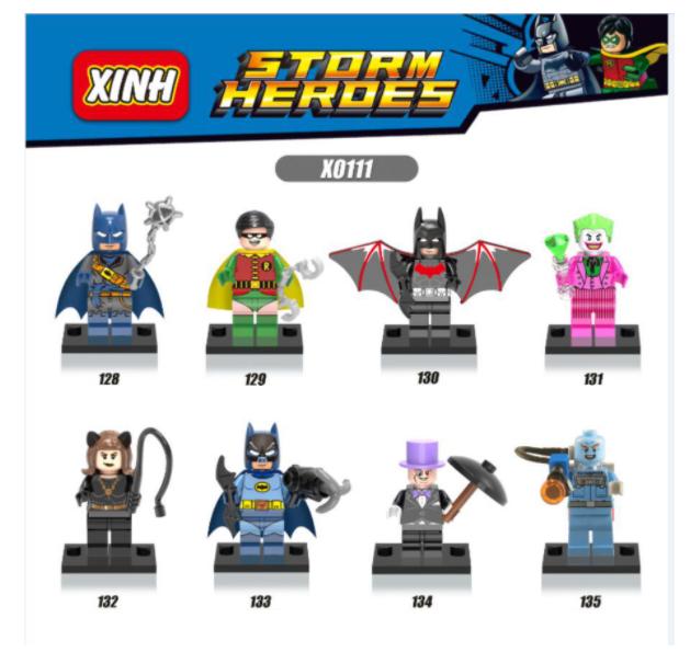 XINH Super Hero Figures X0111 Batman Catwoman Penguin Man Robin Minifigures
