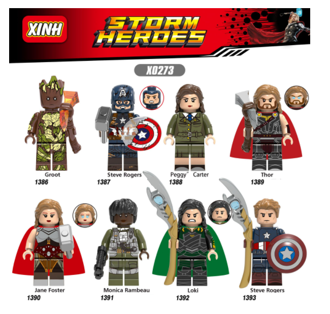 XINH Super Hero Figures X0273 Assemble Children Minifigures