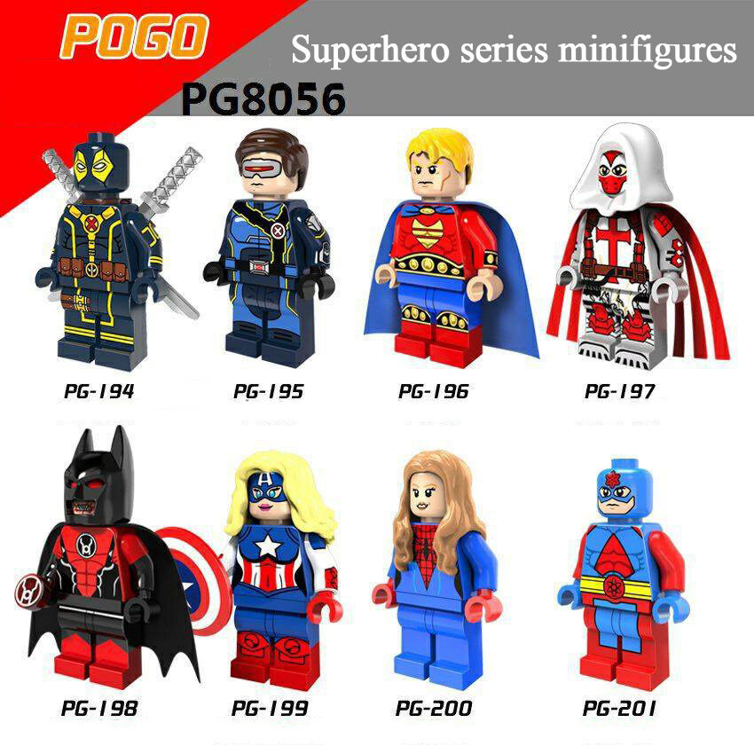 Pogo Superhero Series - PG8056 Hyperion Angel of Death Atom Minifigures