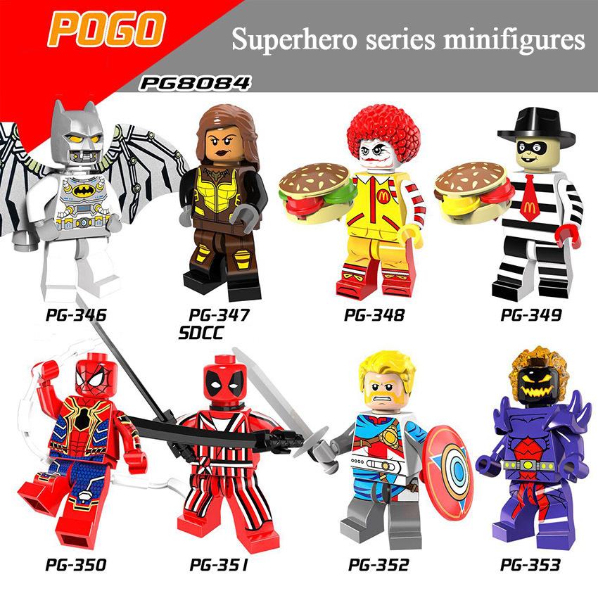 Pogo Superhero Series - PG8084 Space Batman Deadpool Knight Domam Minifigures