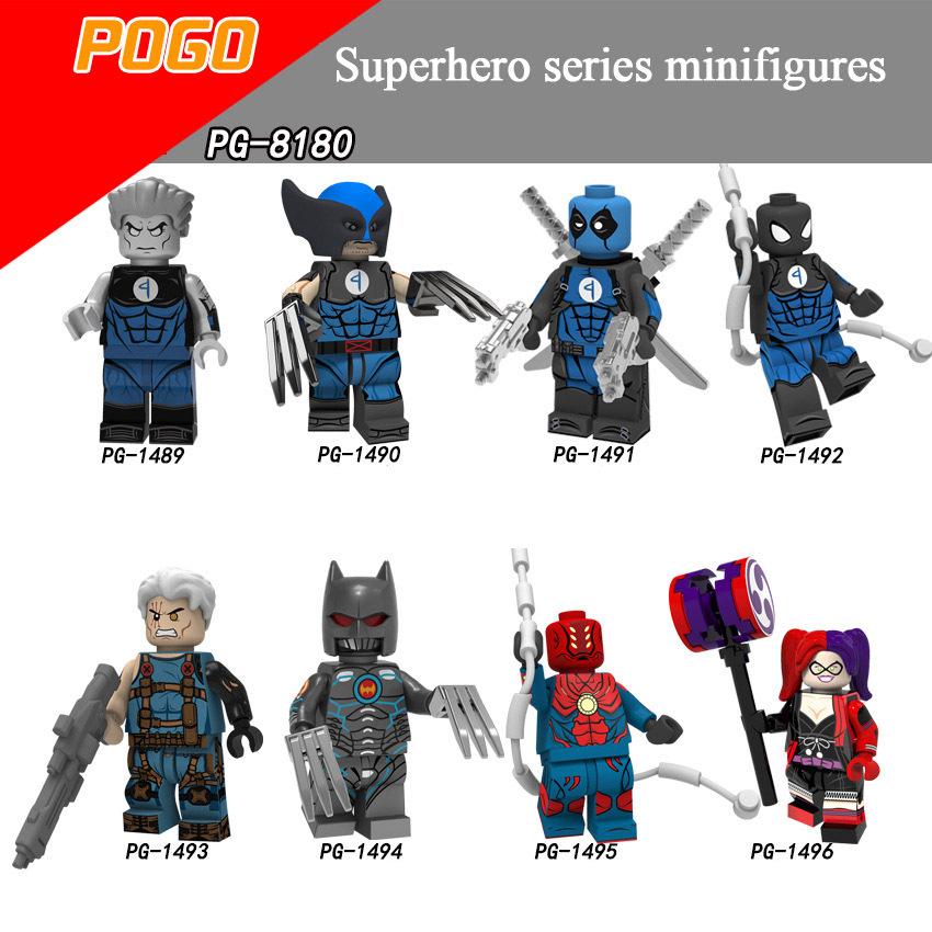 Pogo Superhero Series - PG8180 Steel Lux Wolverine Deadpool Electric Lock Minifigures