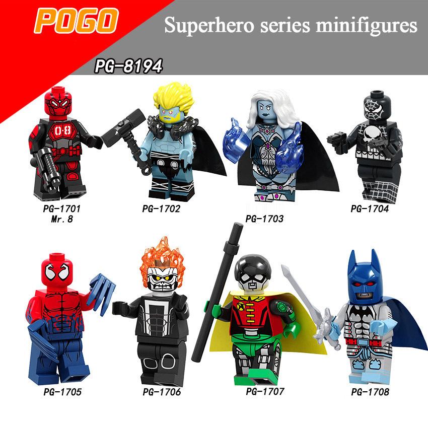 Pogo Superhero Series - PG8194 Frost Thor Killer Toxin Robot Robin Minifigures