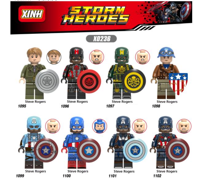 XINH Super Hero Figures X0236 Hydra In Military Uniform Minifigures