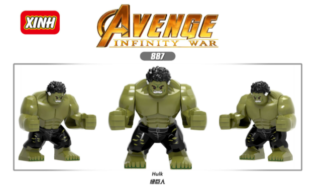 XINH Super Hero Figures X887 Hulk Minifigures