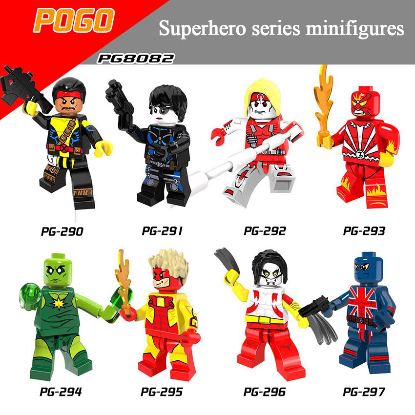 Pogo Superhero Series - PG8082 Domino The Blacksmith Minifigures