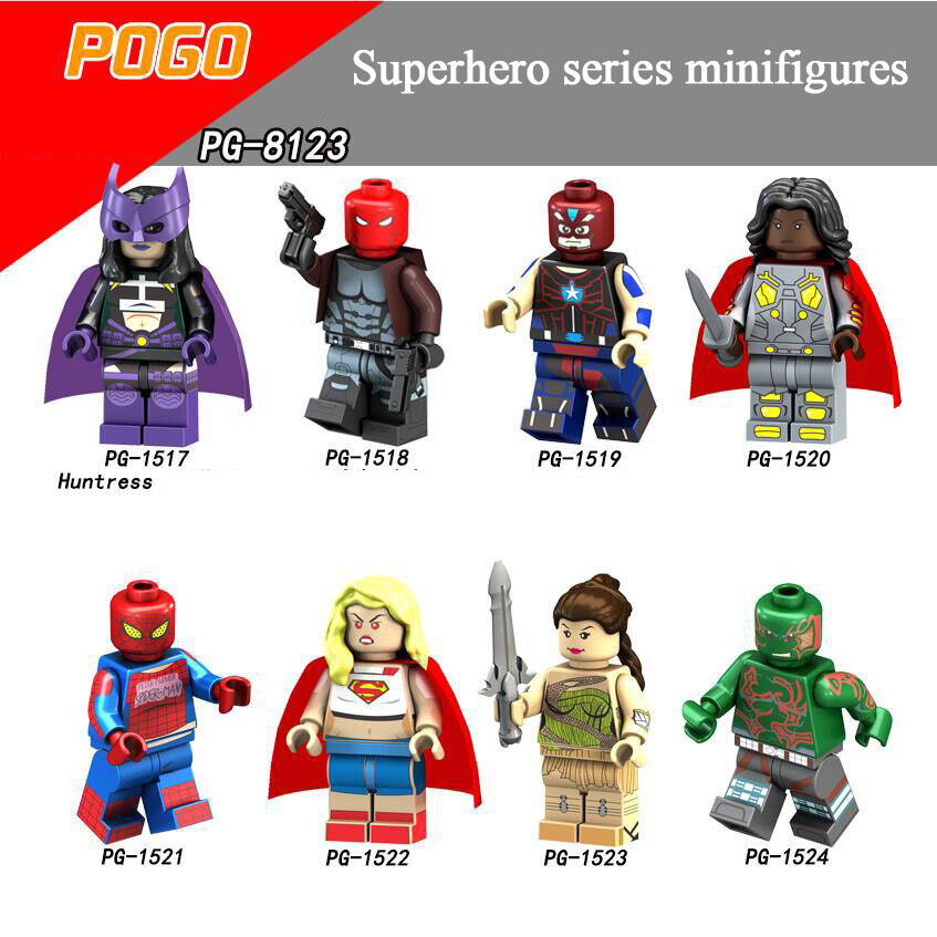 Pogo Superhero Series - PG8123 Superwoman hunter spiderman Minifigures