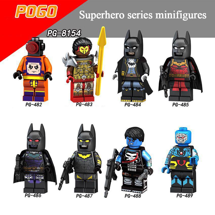 Pogo Superhero Series - PG8154 Batman Punisher Darksiders Minifigures