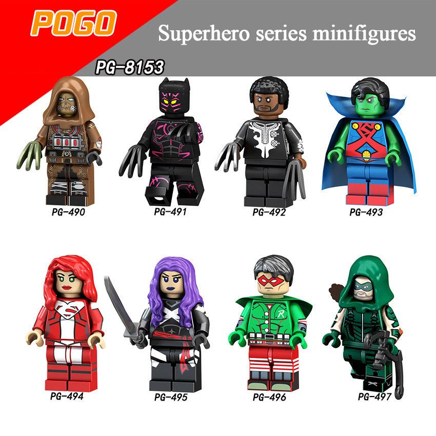 Pogo Superhero Series - PG8153 Scarecrow Panther Martian Superman Lana Blue Minifigures