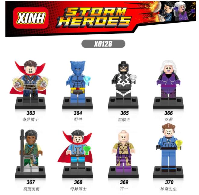 XINH Super Hero Figures X0128 Doctor Strange Crickle The Bat King Minifigures