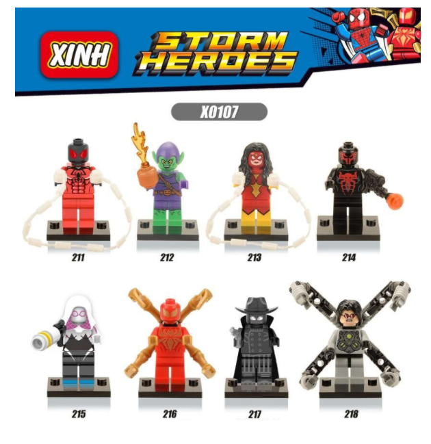 XINH Super Hero Figures X0107 Doctor Octopus Green Goblin Gwen Minifigures