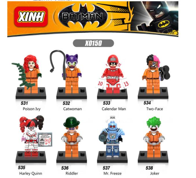 XINH Super Hero Figures X0150  Poison Ivy/Catwoman/Calendar Man Minifigures