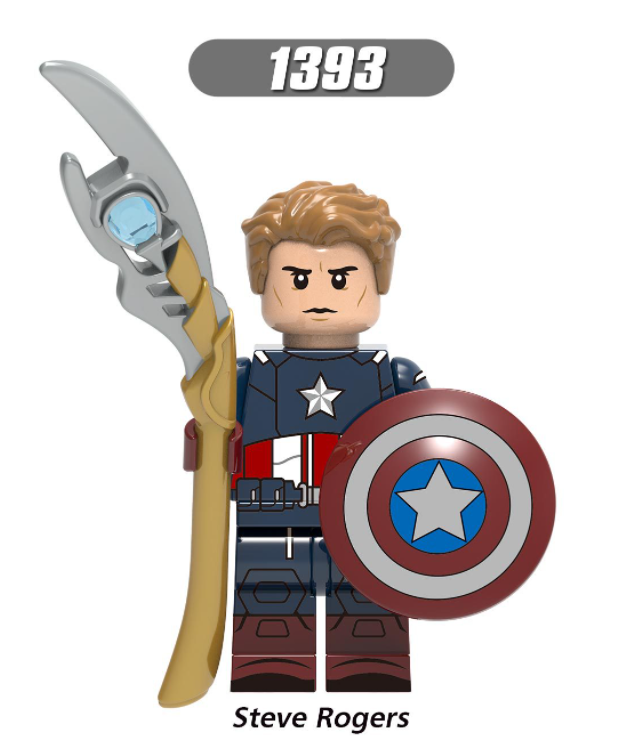 XINH Super Hero Figures X1393 Steve Rogers Minifigures