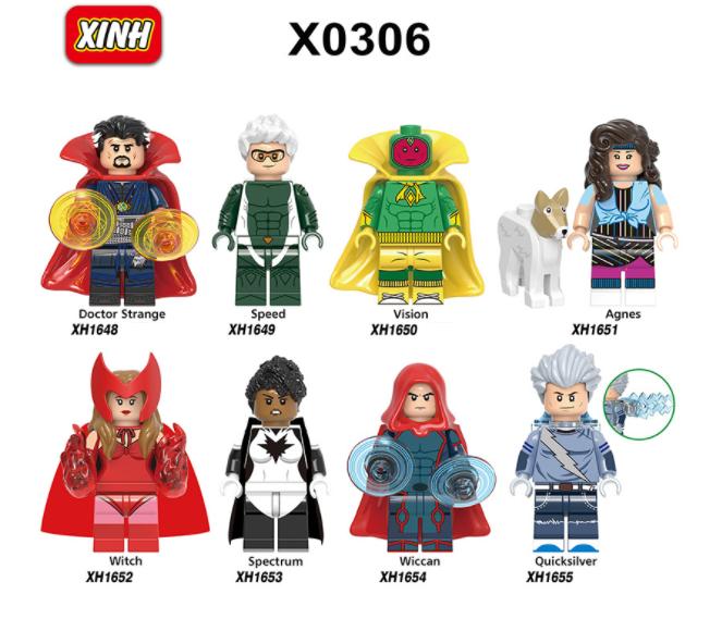 XINH Super Hero Figures X0306 Avengers Agnes Witchcraft Minifigures