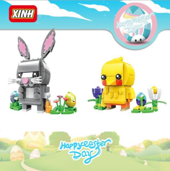 XINH Super Hero Figures 8916+8917 Easter Stand Minifigures