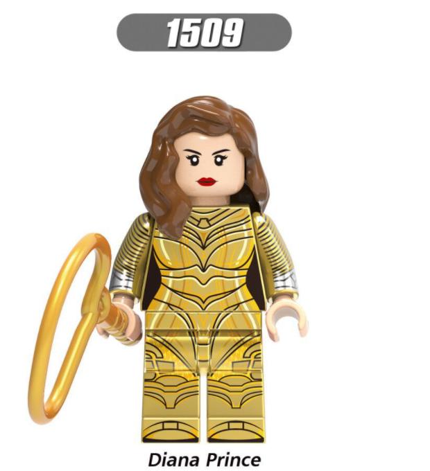 XINH Super Hero Figures Toy Barbara Diana Leopard Lady Ares bag Minifigures