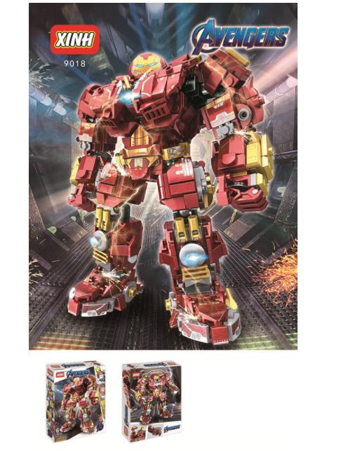 XINH Super Hero Figures Super Young Anti-Hulk Armored Iron Man Minifigures