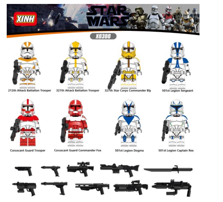 XINH Super Hero Figures X0300 Star Wars Legion Minifigures