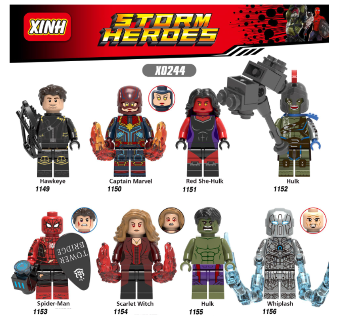 XINH Super Hero Figures X0244 The Incredible Hulk Minifigures