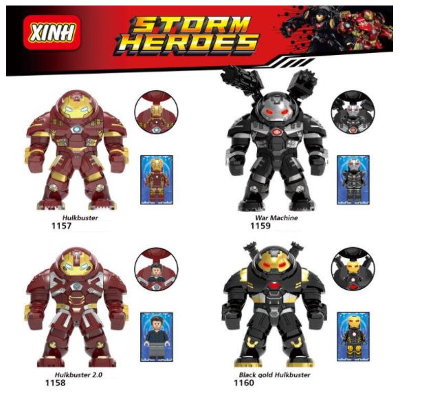 XINH Super Hero Figures X1157-1160 Hulkbuster Minifigures