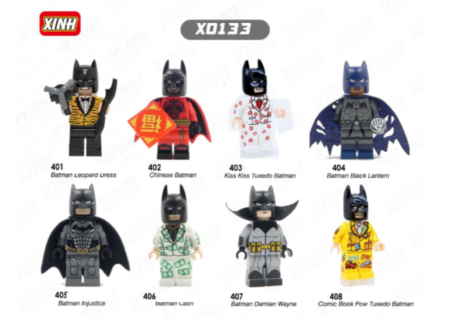 XINH Super Hero Figures X0133 Eight Suits For Batman