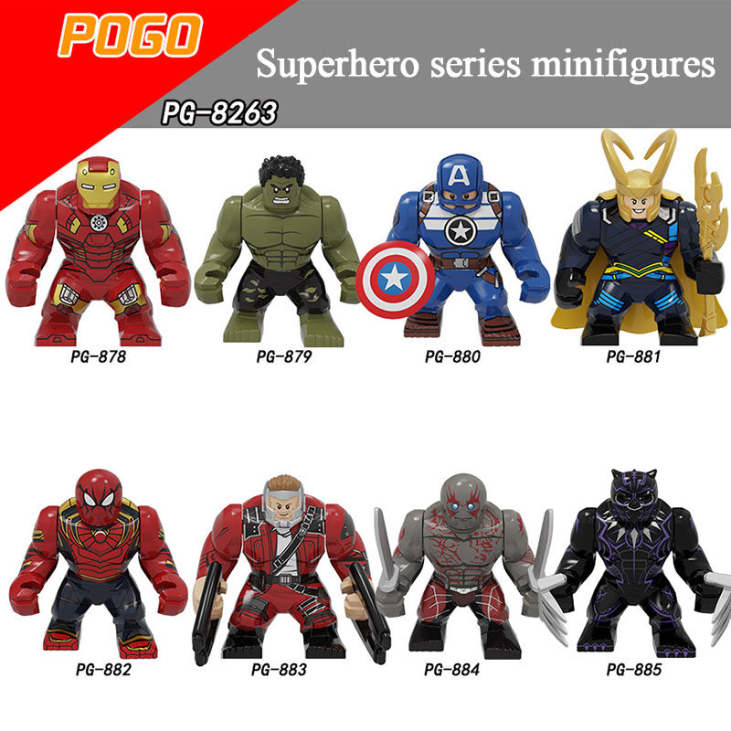 Pogo Superhero Series - PG8263 Assemble The Granular Building Blocks Minifigures