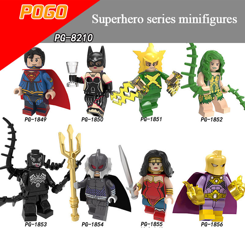 Pogo Superhero Series - PG8210 Batwoman Electro-optical Venom Wonder Woman Minifigures