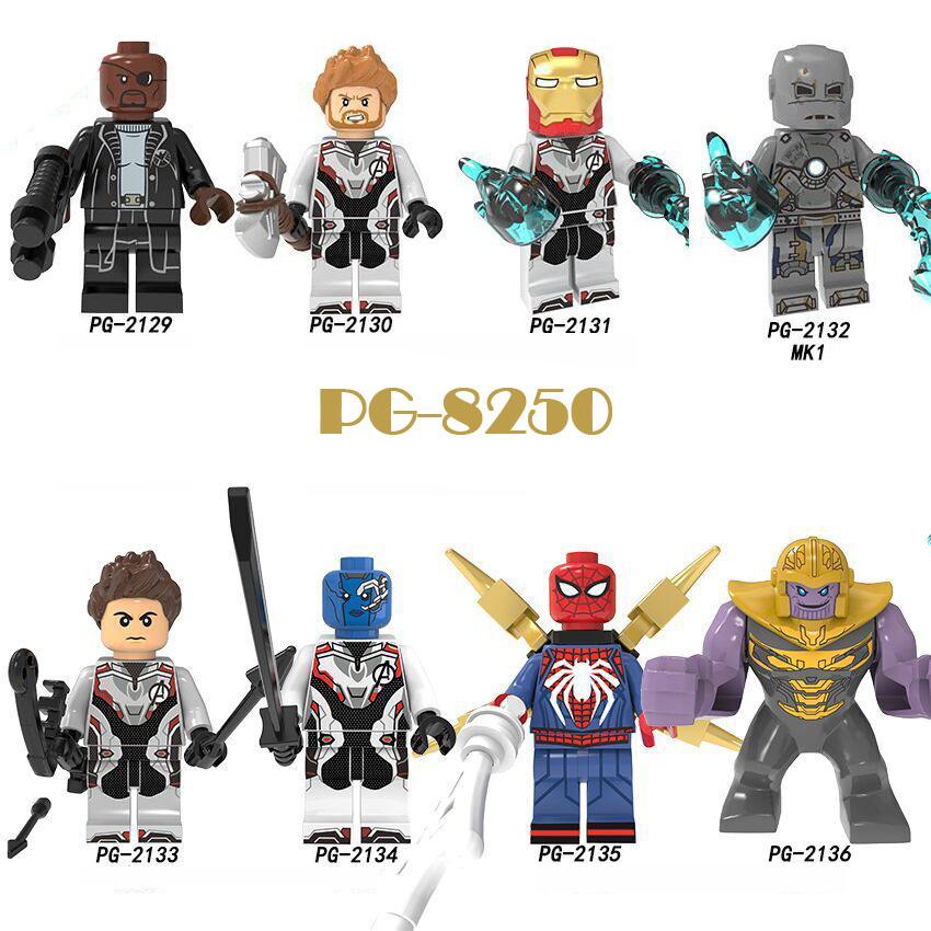 Pogo Superhero Series - PG8250 Avengers Steel Thor Thanos Minifigures