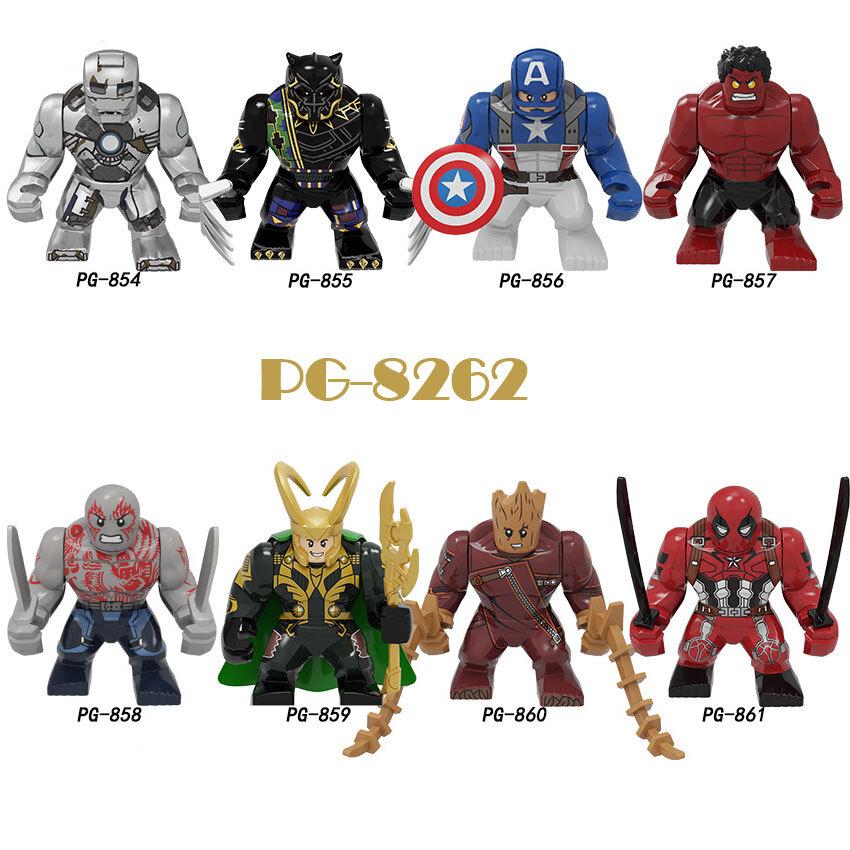 Pogo Superhero Series - PG8262 Iron Man Black Panther Captain America Minifigures