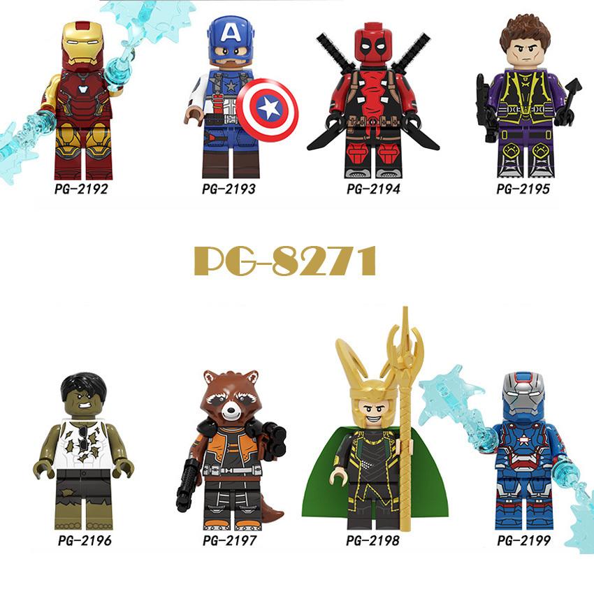 Pogo Superhero Series - PG8271 Iron Man Hulk Rocky Minifigures