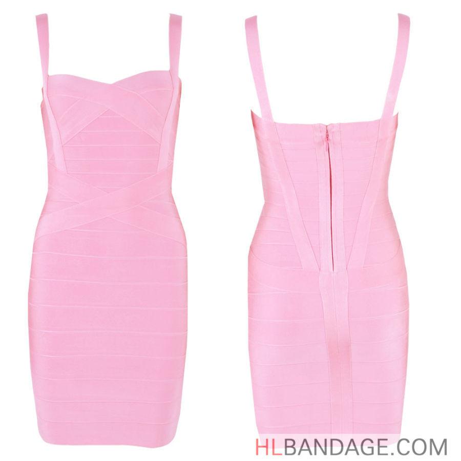 Spaghetti Strap 2017 Sexy Women Bodycon HL Bandage Dress