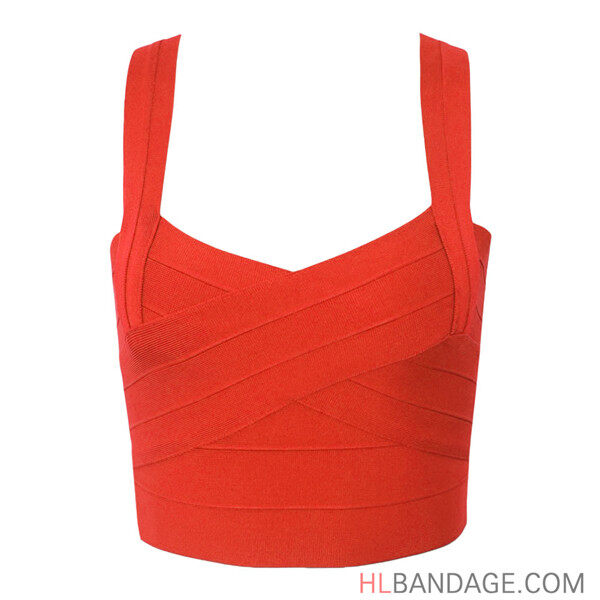 0310235f4bf red solid short rayon 2017 new fashion sexy women's knitted bandage strappy  bustier crop tops vest