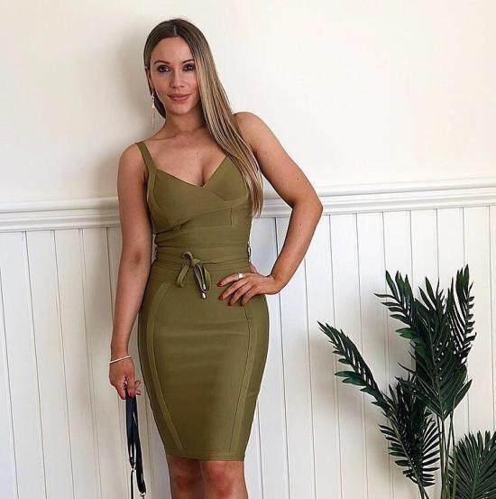 7fc5718da8bec olive green strap knee length 2017 women's sexy newest arrival lace ...