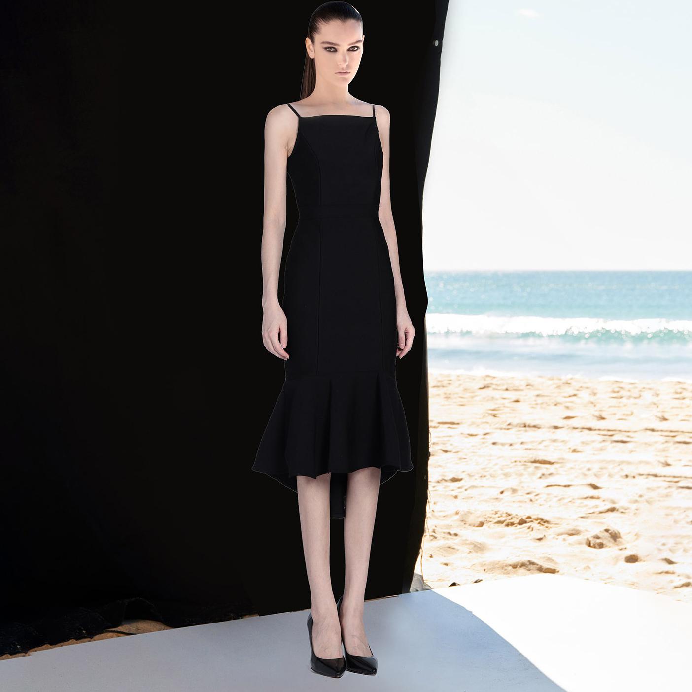 Celebrity Wedding Dresses 2019: 2019 New Mermaid Fishtail Spaghetti Strap Bandage Dress