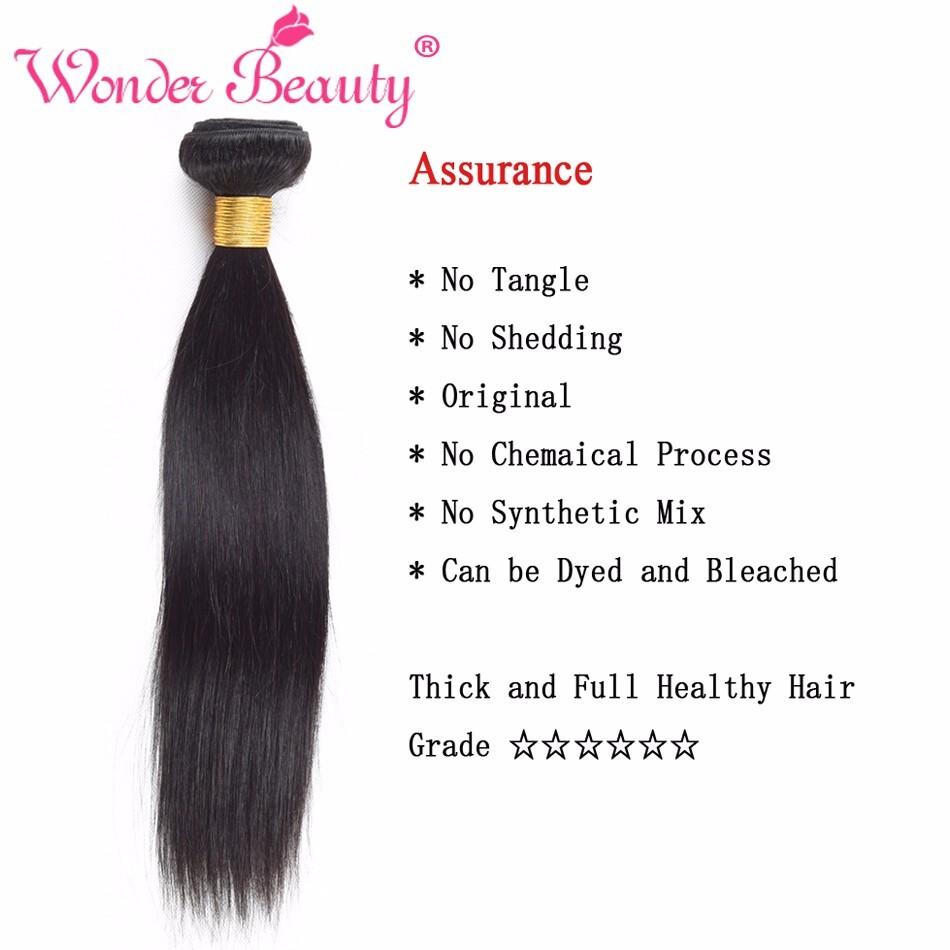 Wonder Beauty Indian Straight Hair Straight Hair 2 Bundles Deal