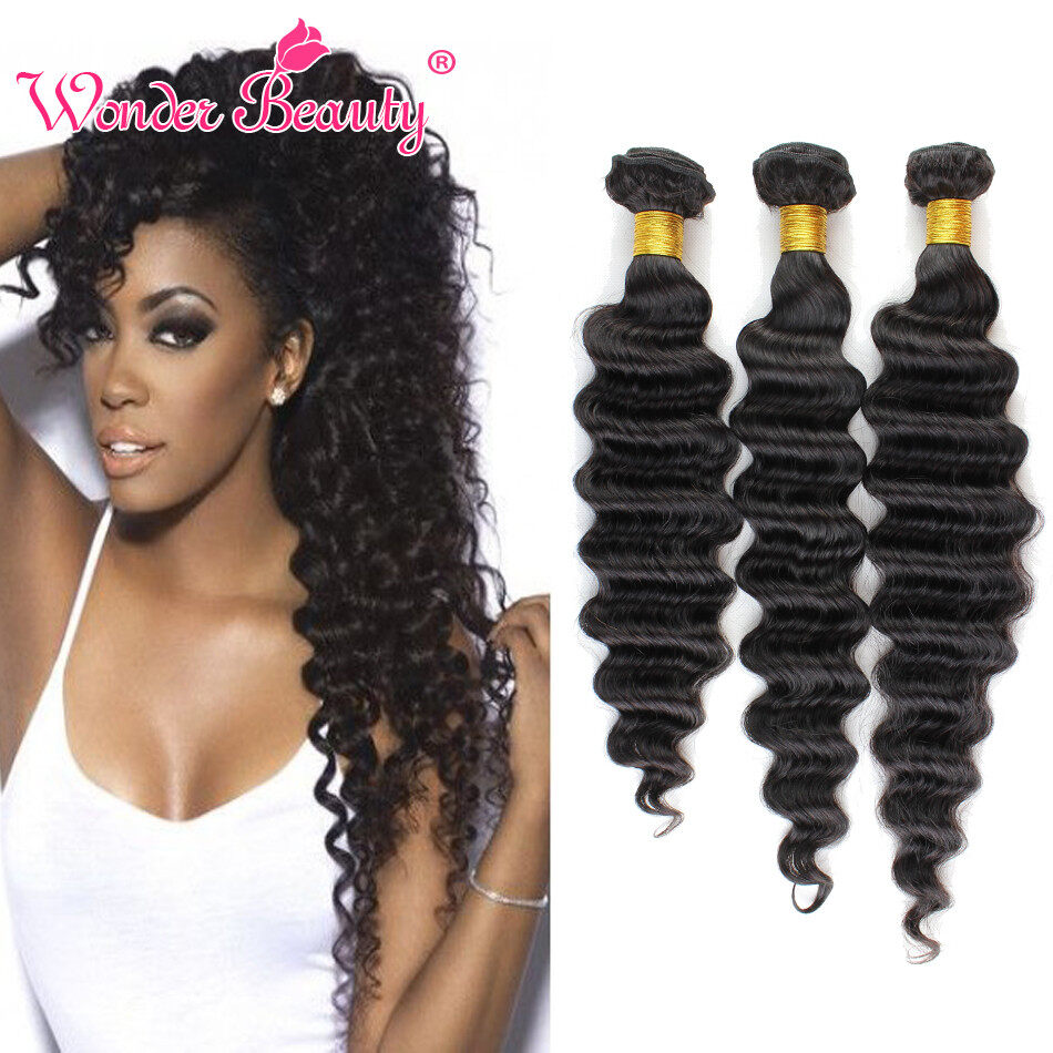 Beneifit Brazilian Virgin Hair Deep Wave 4 Bundles Deal Human Hair