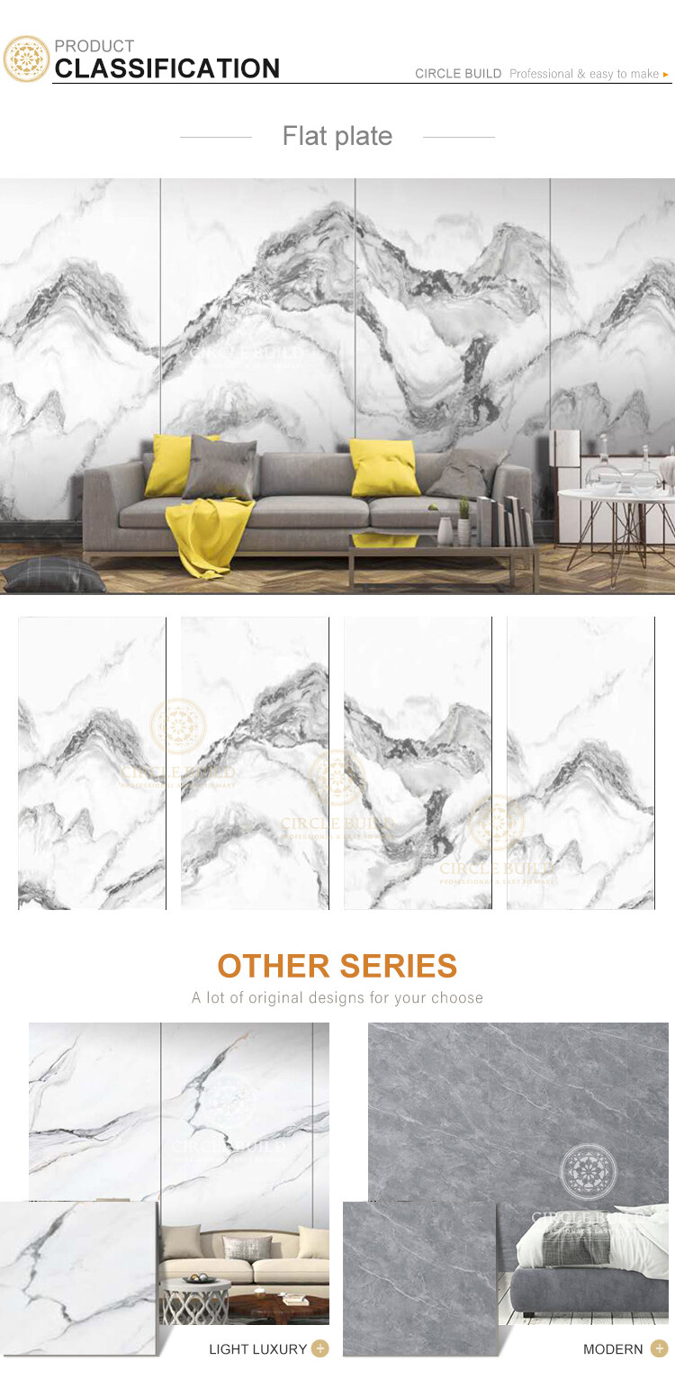China style natural porcelain tv background ceramic wall tiles for decorative