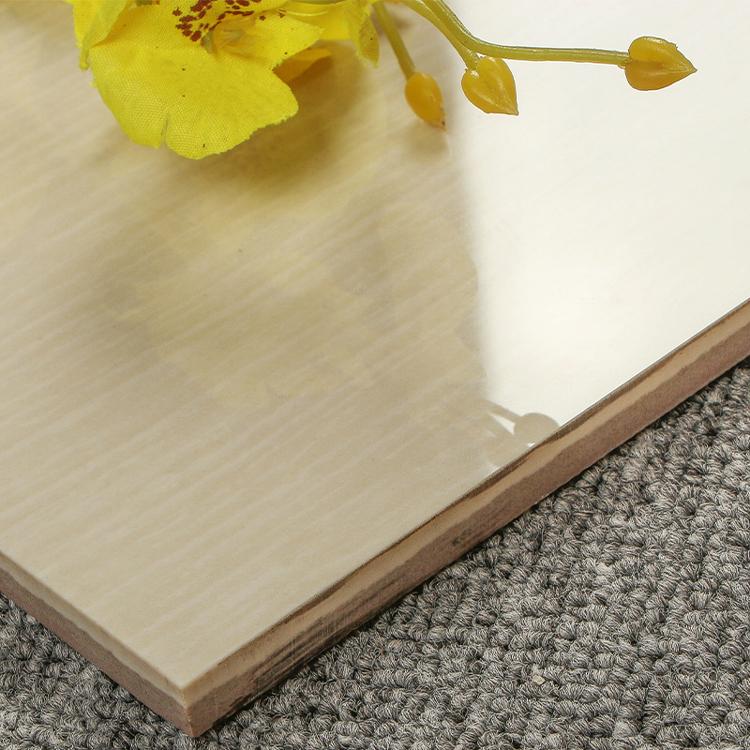 porcelain polished living room wood look floor tiles  beige indoor floor tiles