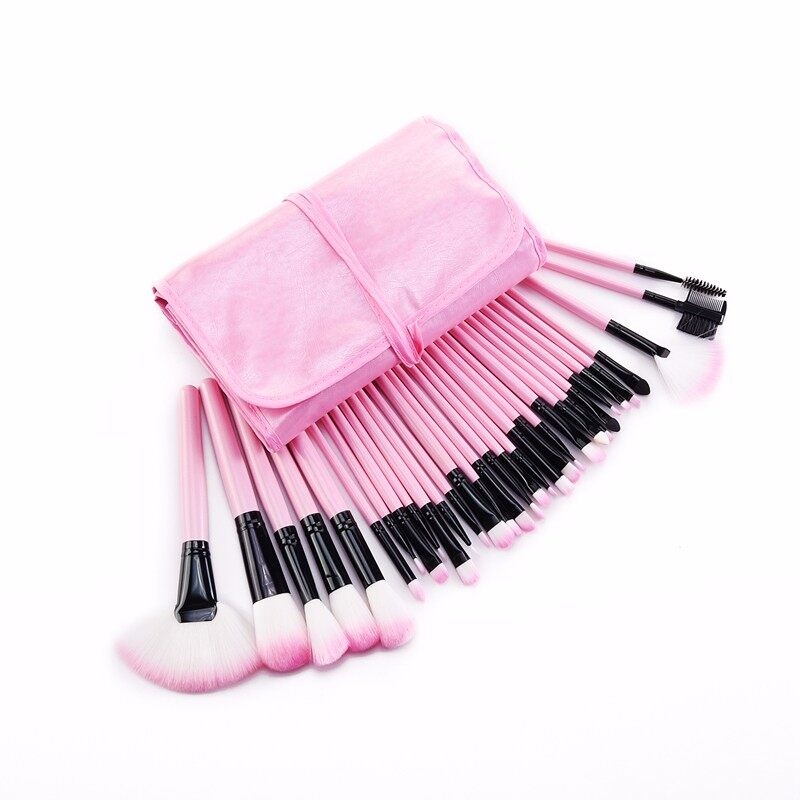 Stock Clearance !!! 32Pcs Print Logo Makeup Brushes Professional Cosmetic Make Up Brush Set The Best Quality! 11