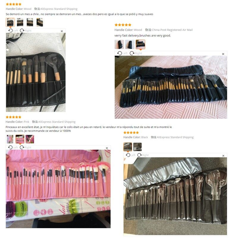 Stock Clearance !!! 32Pcs Print Logo Makeup Brushes Professional Cosmetic Make Up Brush Set The Best Quality! 12