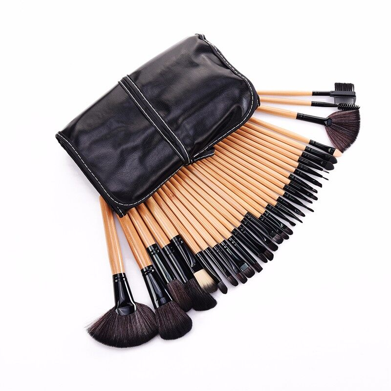 Stock Clearance !!! 32Pcs Print Logo Makeup Brushes Professional Cosmetic Make Up Brush Set The Best Quality! 15