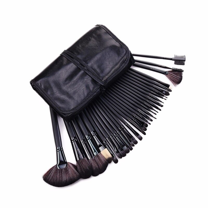 Stock Clearance !!! 32Pcs Print Logo Makeup Brushes Professional Cosmetic Make Up Brush Set The Best Quality! 19