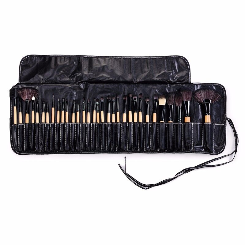 Stock Clearance !!! 32Pcs Print Logo Makeup Brushes Professional Cosmetic Make Up Brush Set The Best Quality! 3